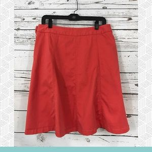 L.L. Bean - Gored Twill A-Line Skirt